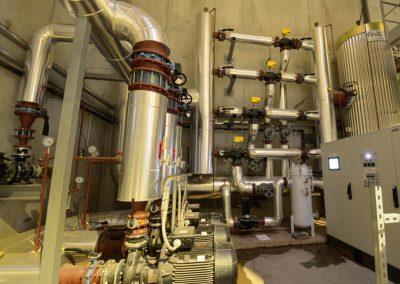 Intérieur de la chaufferie biomasse