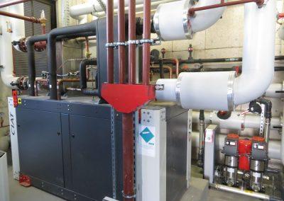Sous-station Chartrons - Installations local technique (réseaux et pompes)