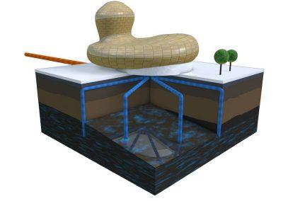 Schéma - Centrale de production thermique et frigorifique