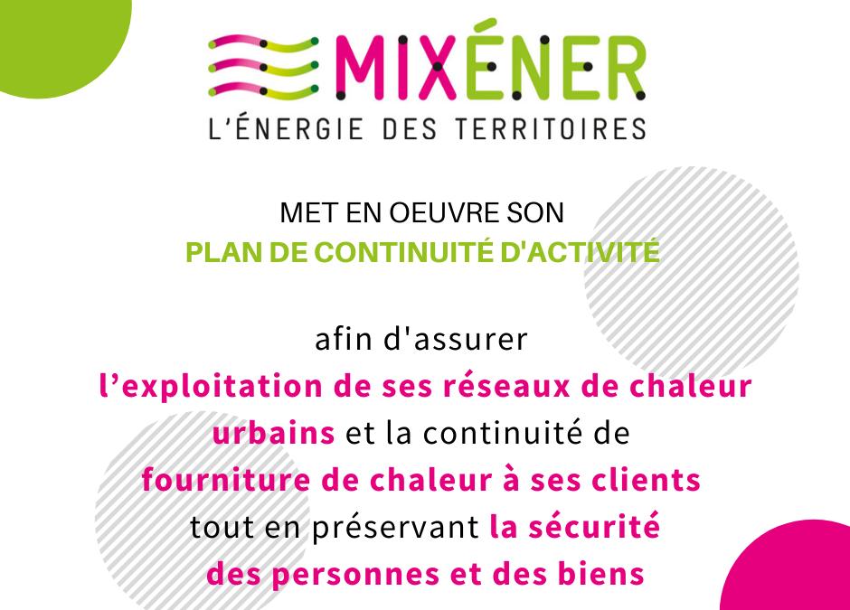 Plan Continuité Activité Mixéner et ses filiales