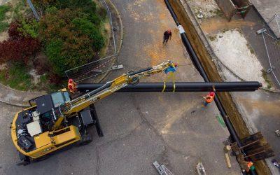 Les travaux de rénovation du réseau de chaleur des Hauts de Garonne avancent à grands pas !
